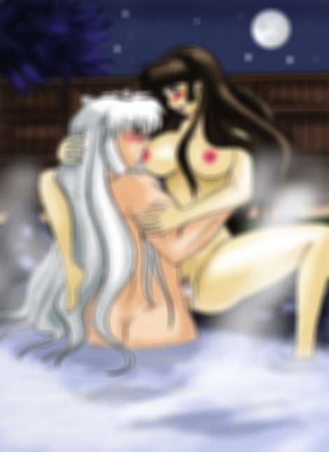 Inuyasha and sango sex in hot spring