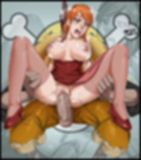 nami one piece shiki boobs tits sketch lanza redhair stockings in the air highheels