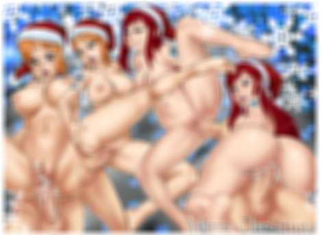 sketch lanza boobs tits Happy Christmas Erza Nami hats sex anonymous guys